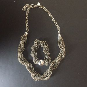Jewelry - NEW set of two silver style necklace & bracelet!